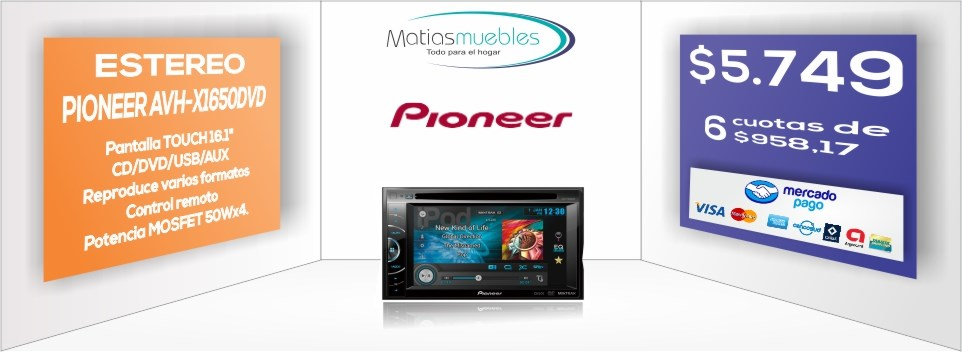 Estereo Pioneer AVH-X1650DVD