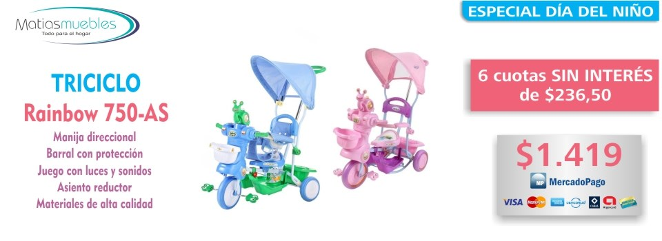Triciclo Rainbow 750-AS - MatiasMuebles