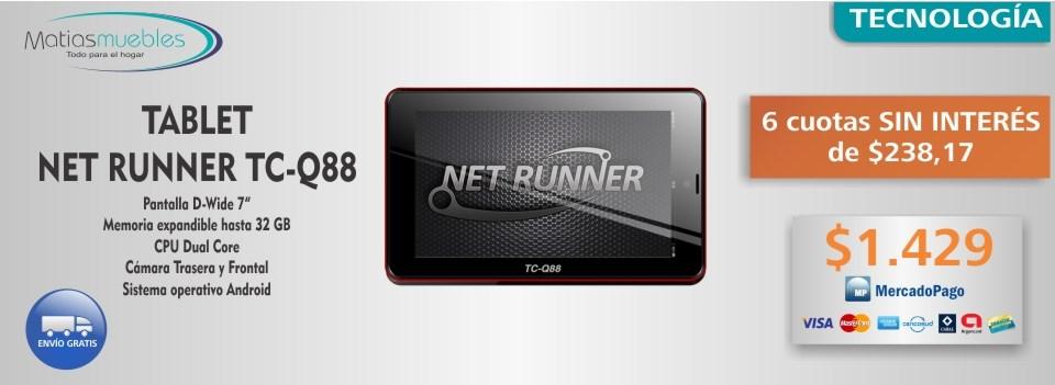 Tablet Net runner TC-Q88 Con envío sin cargo  - MatiasMuebles