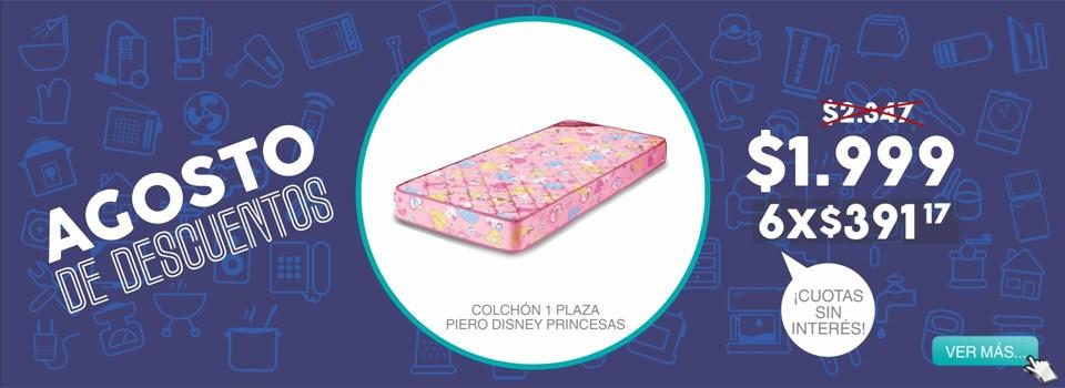 colchon 1 plaza Piero Disney Pincesas