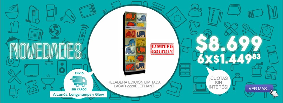 HELADERA LACAR 2220ELEPHANT EDICION LIMITADA