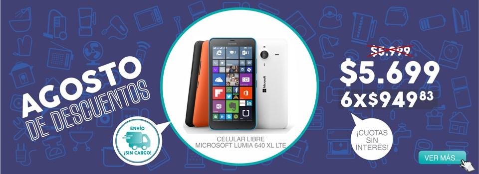 Celular libre microsoft lumia 640 xl lte