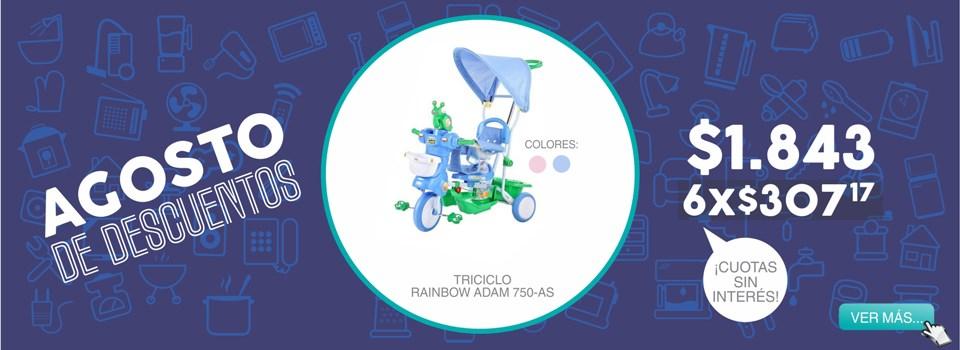 Triciclo rainbow adam 750-as