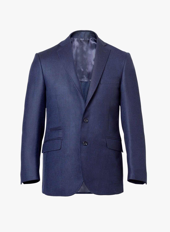 84e2d7bd86bf0 Saco paño fantasia slim fit - Azul diagonal. Envío gratis