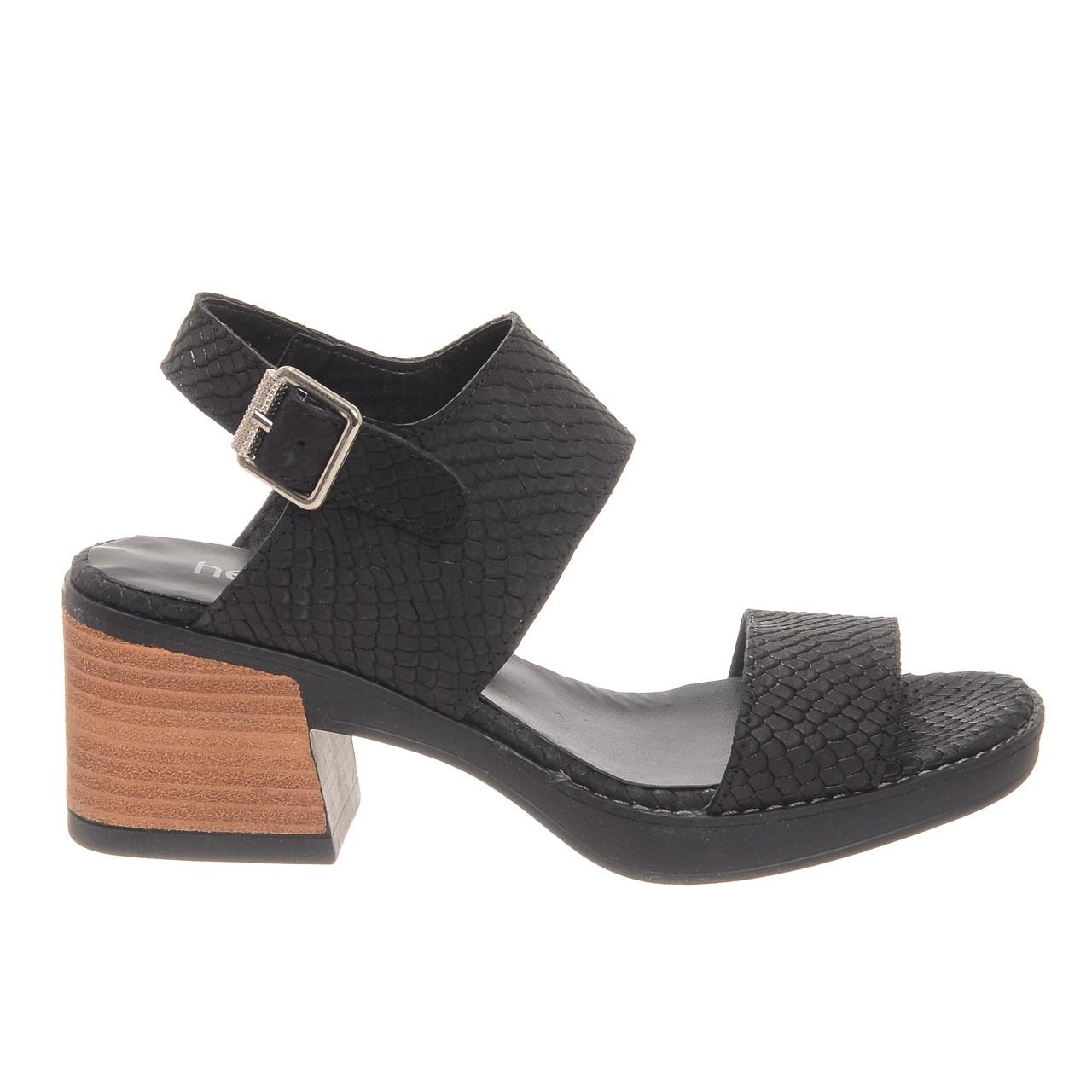 79f495d31 Sandalias Mujer Zapatos Cuero Taco Medio Verano Plataforma