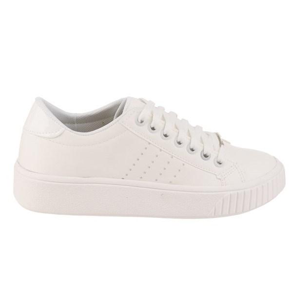 4dbf8e9ca43 Zapatillas Mujer Blancas Con Nueva Plataforma 2018