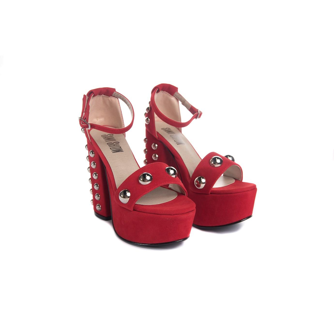 efaaf7e4de8 Sandalias Rojas Mujer Moda